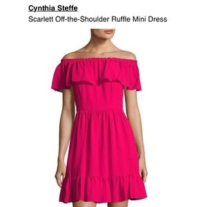 Cynthia Steffe Off The Shoulder Ruffle Dress